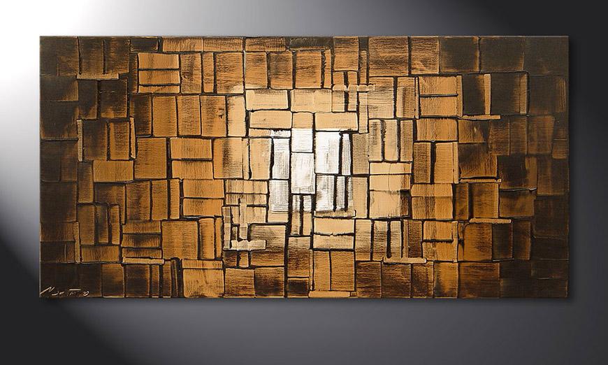 Le tableau mural Earth Cubes 120x60x2cm