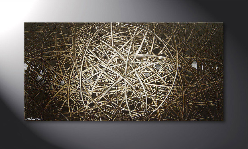 Le tableau mural Energy of Earth 120x60x2cm