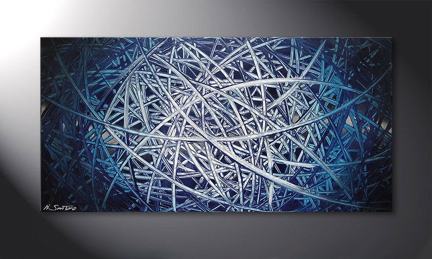 Le tableau mural Energy of Water 120x60x2cm