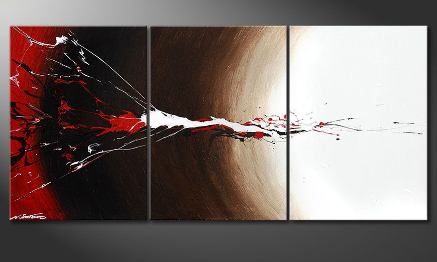Le tableau mural Erupted Contrast 150x70x2cm