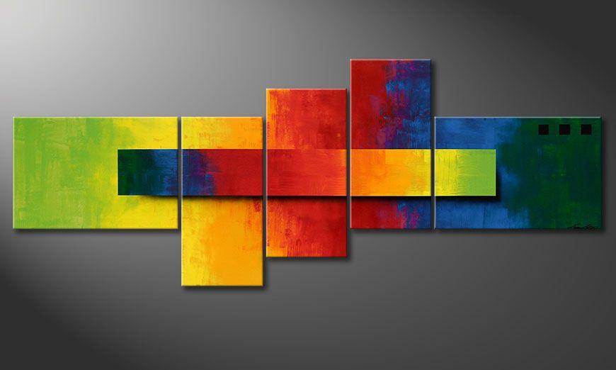 Le tableau mural Facets of a Rainbow 210x80x2cm