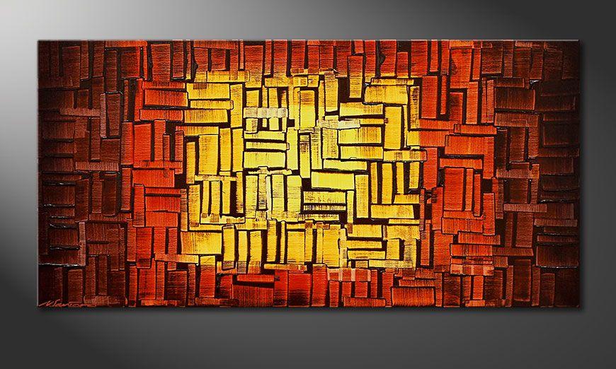 Le tableau mural Fire Cubes 120x60x2cm