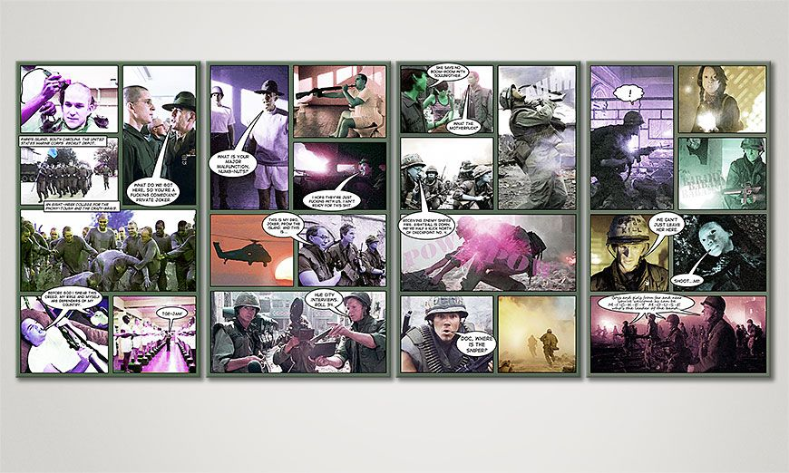Le tableau mural Full Metal Jacket 160x70x2cm