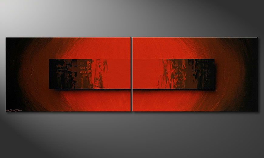 Le tableau mural Glowing Red 200x60x2cm