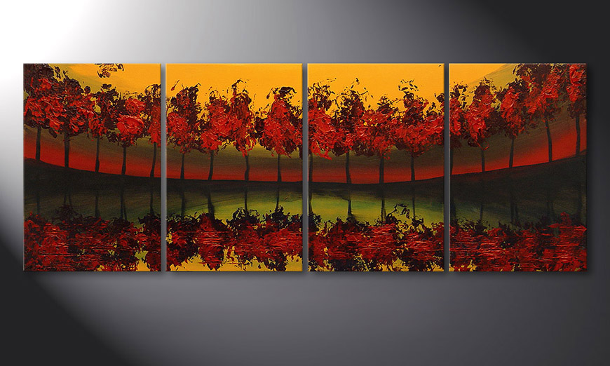 Le tableau mural Glowing Sky 160x60x2cm