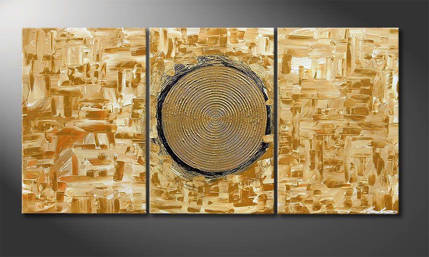 Le tableau mural Golden Sun 120x60x2cm