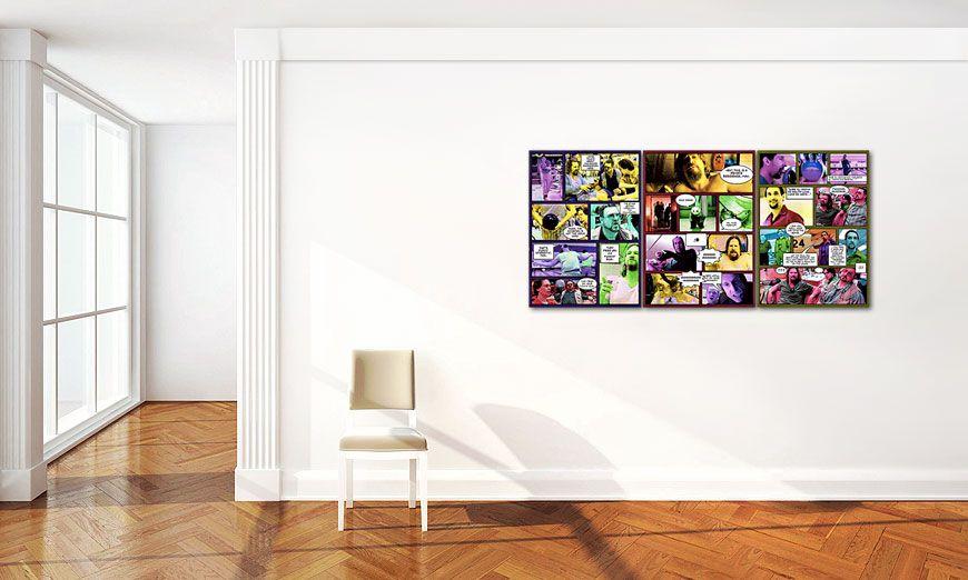 Le tableau mural le grand lebowski 150x70cm tableaux xxl for Grand tableau mural zen