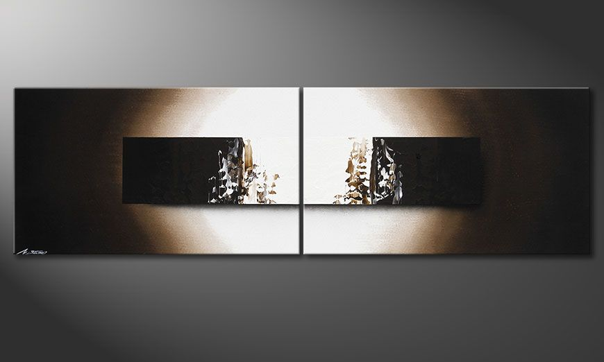 Le tableau mural Light Rain 200x60x2cm
