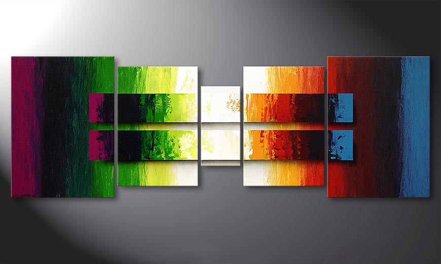 Le tableau mural Liquid Colours 200x70x2cm