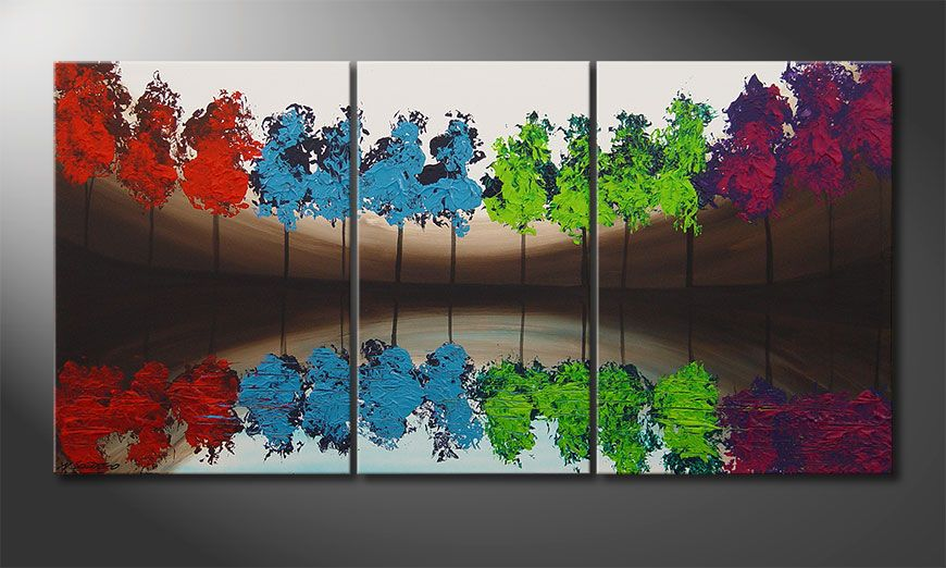 Le tableau mural MiracleTrees 140x70x2cm