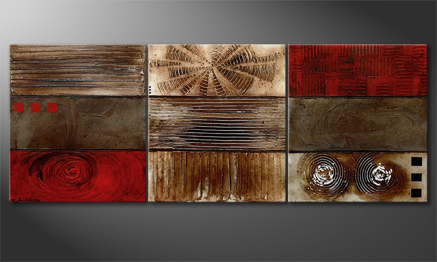 Le tableau mural Moments 180x70x2cm
