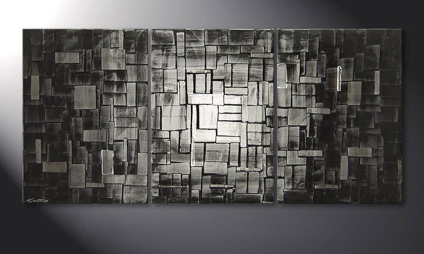 Le tableau mural Moon Cubes 150x70x2cm