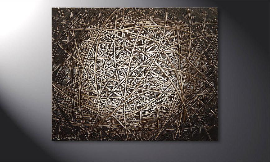 Le tableau mural Moon Stripes 100x80x2cm