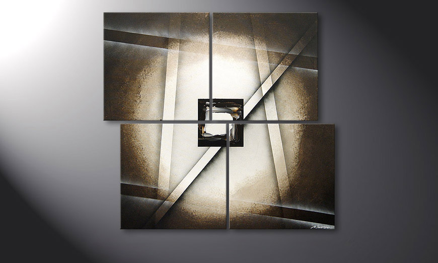 Le tableau mural Playful Shadows 110x100x2cm