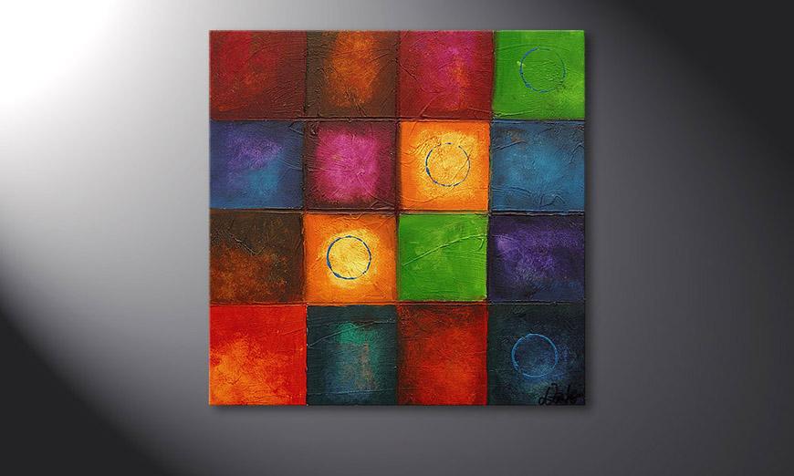 Le tableau mural Pot-Pourri 70x70x2cm
