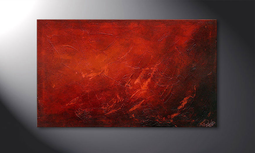Le tableau mural Red 100x60x2cm
