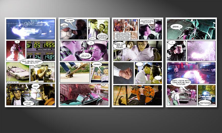 Super Le tableau mural Retour vers le futur 160x70cm - Tableaux-XXL AR07