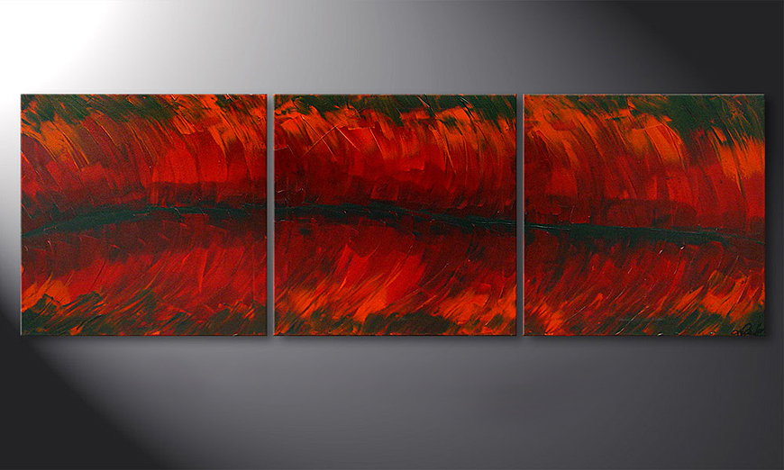 Le tableau mural Riven Red 180x60x2cm