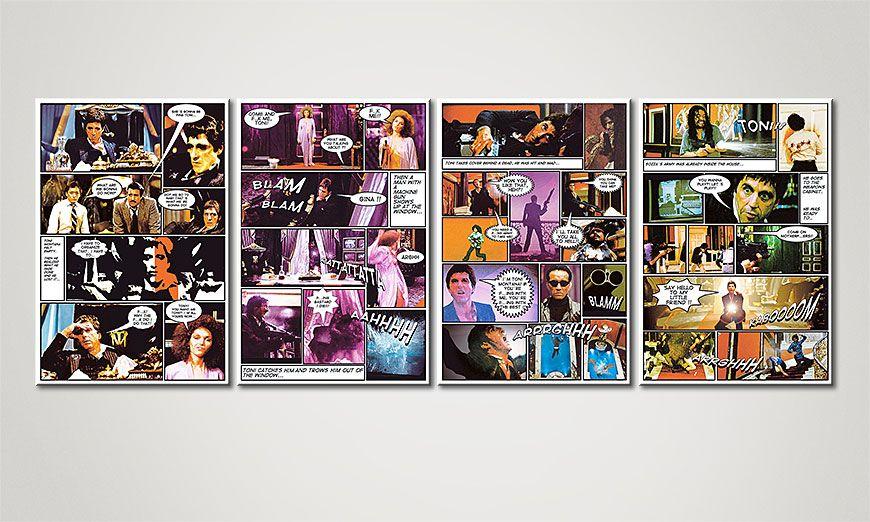 Le tableau mural Scarface 160x60x2cm