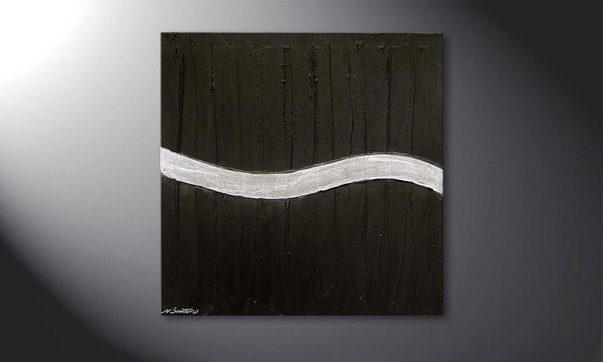 Le tableau mural Silver Wave 80x80x2cm