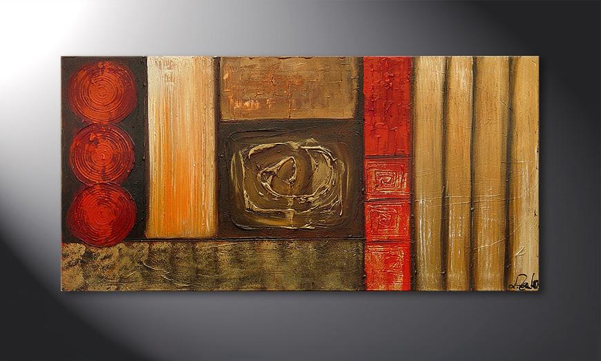 Le tableau mural Stoned Roses 120x60x2cm