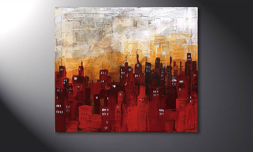 Le tableau mural stormy night 70x80cm tableaux xxl - Tableau mural moderne ...