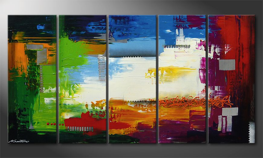 Le tableau mural Strange Day in 150x80x2cm