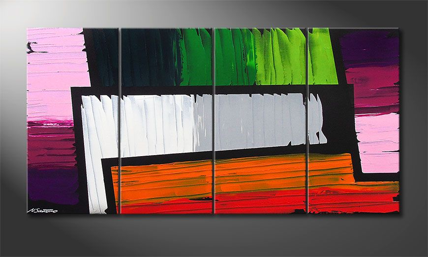 Le tableau mural Structure of Colors 160x80x2cm