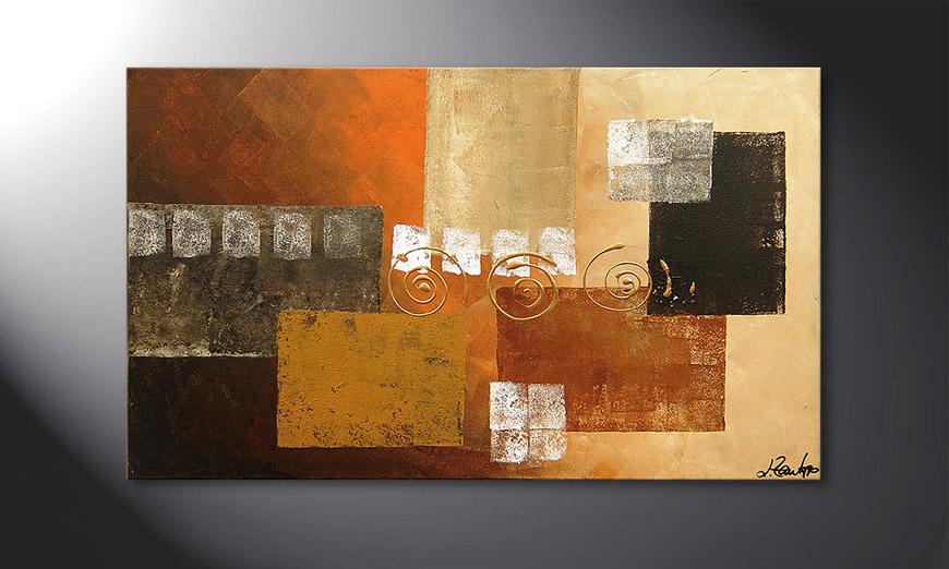Le tableau mural Sunny Swirl 100x60x2cm