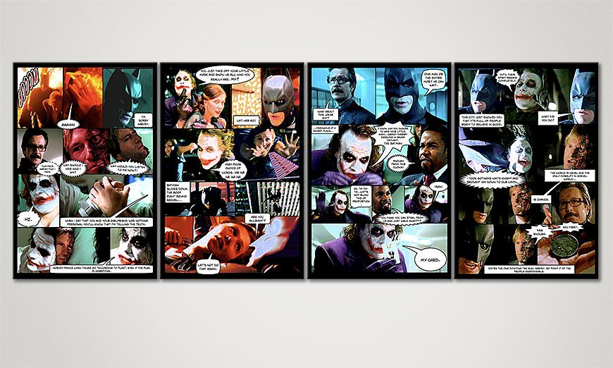 Le tableau mural The Dark Knight 160x60x2cm