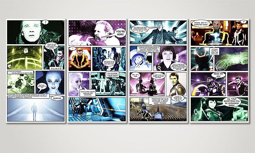 Le tableau mural Tron:L'Héritage 160x70x2cm