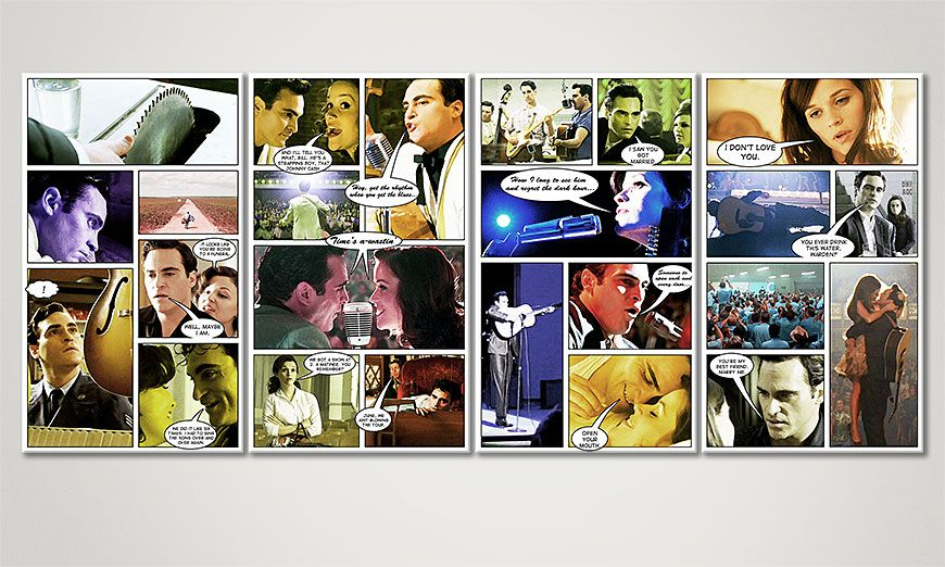 Le tableau mural Walk the Line 160x70x2cm