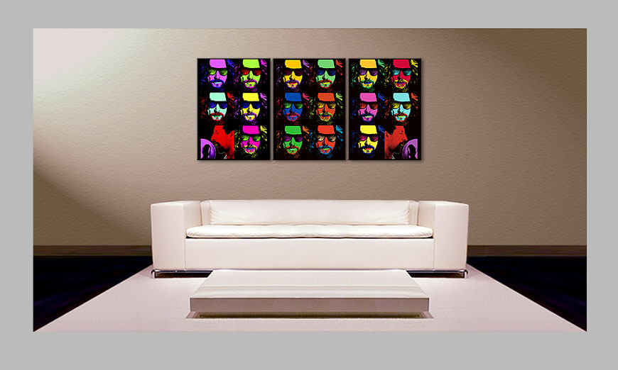 Le tableau mural imprim big lebowski 150x70cm tableaux xxl for Tableau imprime sur verre