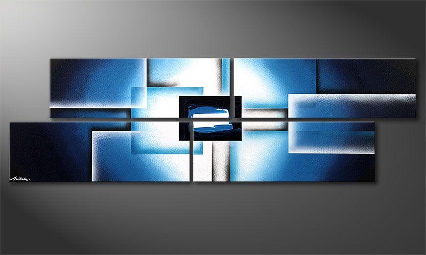 Le tableau mural moderne Polar Glow 200x60x2cm