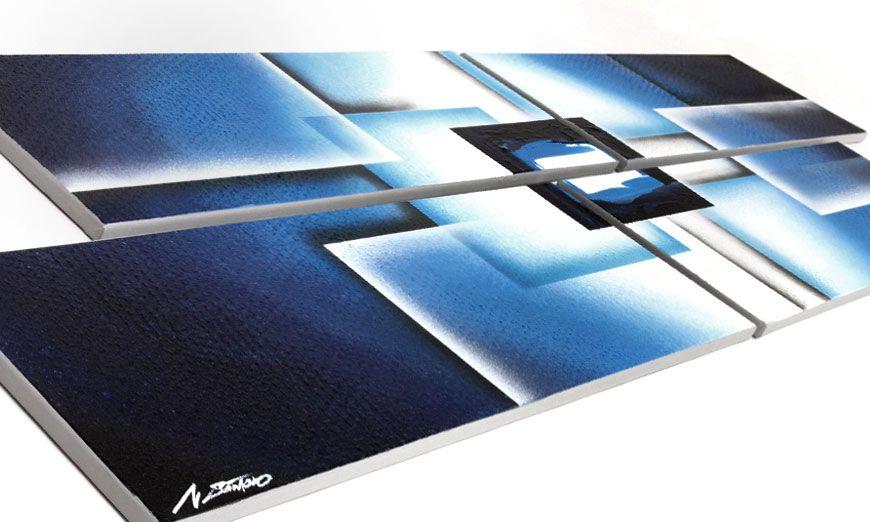 Cadre Mural Moderne Noir De Photos : Le tableau mural moderne polar glow cm tableaux xxl
