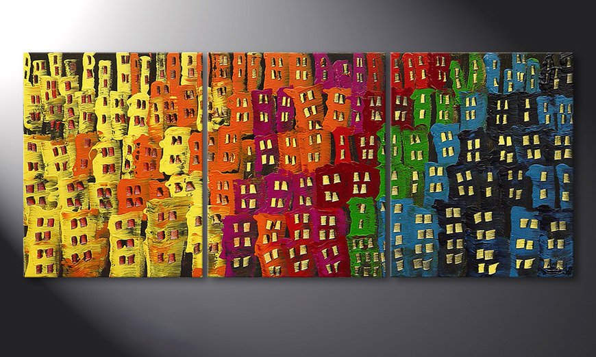 Le tableau pour salon Afterglowing City 120x50x2cm