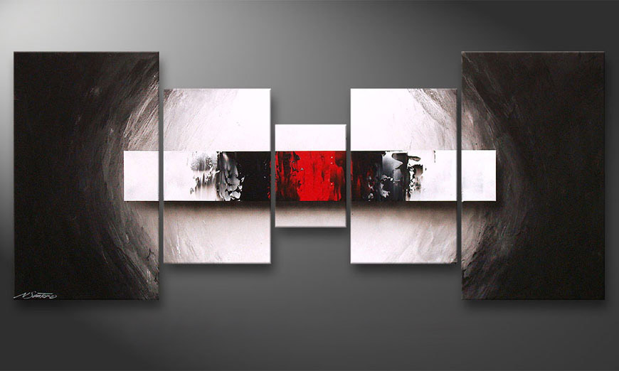 Le tableau pour salon End of Contrast 160x70x2cm