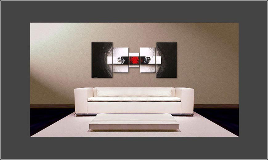 le tableau pour salon end of contrast 160x70cm tableaux xxl. Black Bedroom Furniture Sets. Home Design Ideas