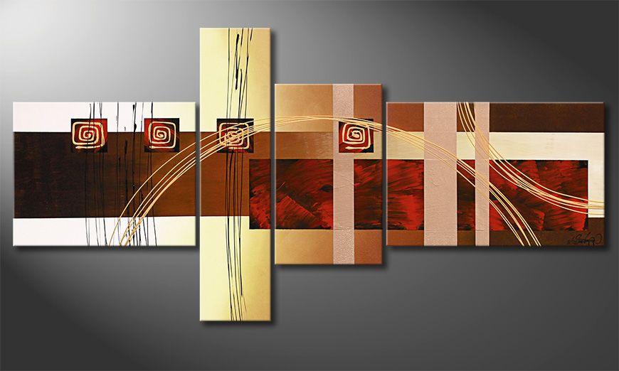 Le tableau pour salon Golden Ways 160x80x2cm