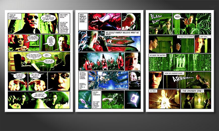 Le tableau pour salon Matrix 180x90x2cm