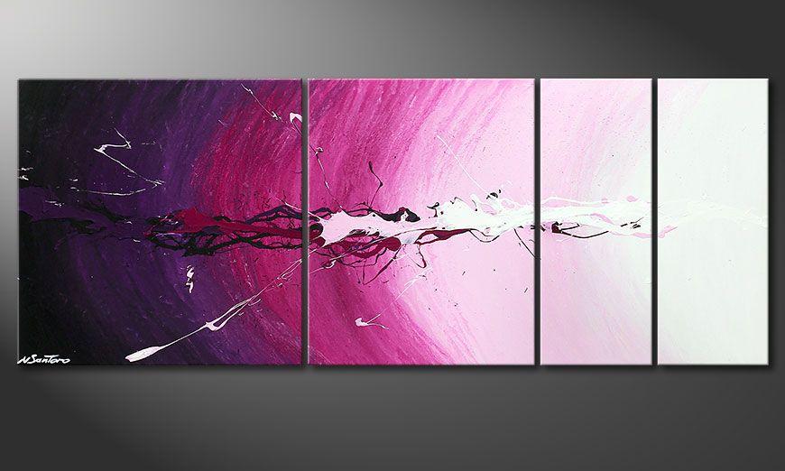 Le tableau sur châssis Cosmic Splash 130x50x2cm