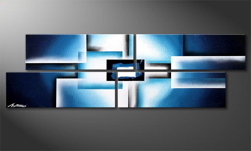 Le tableau sur châssis Polar Glow 130x40x2cm