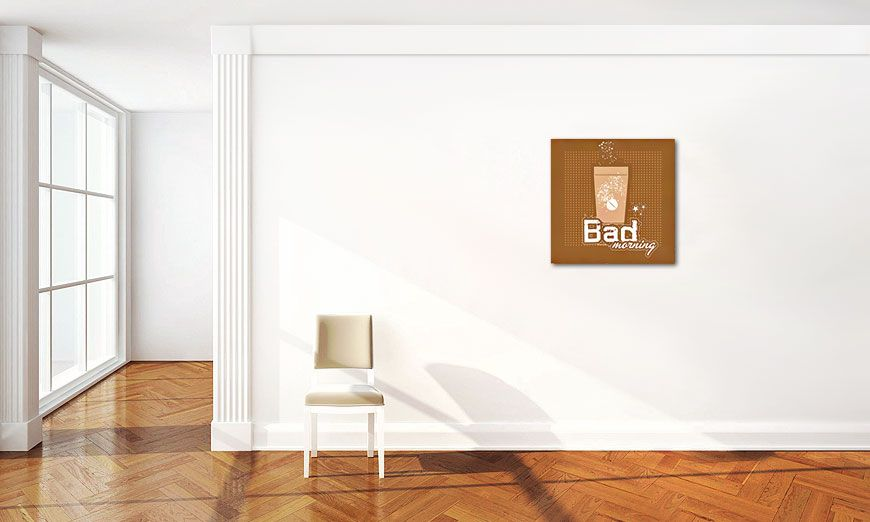 limpression sur toile bad morning 60x60cm tableaux xxl. Black Bedroom Furniture Sets. Home Design Ideas