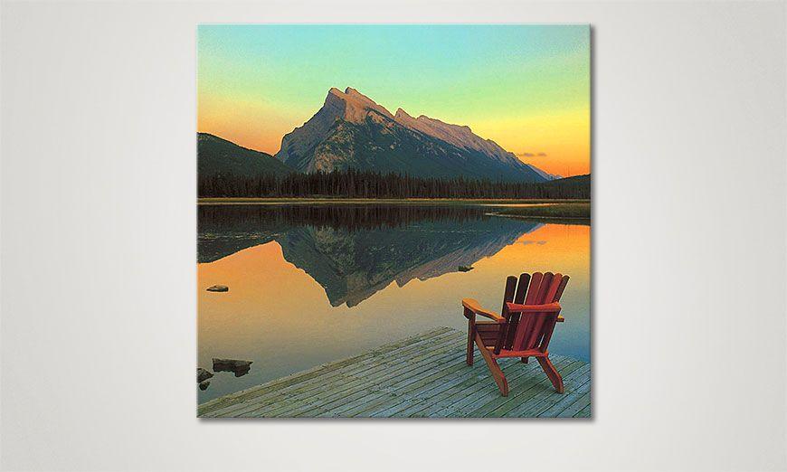 limpression sur toile cool down 80x80cm tableaux xxl. Black Bedroom Furniture Sets. Home Design Ideas