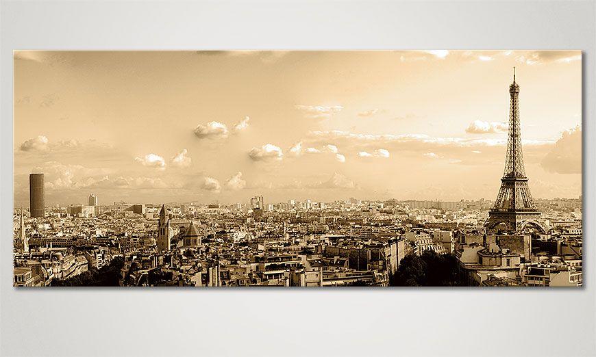 Impressions sur toile Photos imprimee Toile Villes Limpression Paris II xcm