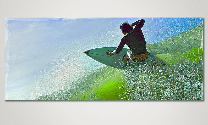 limpression sur toile surf 120x50cm tableaux xxl. Black Bedroom Furniture Sets. Home Design Ideas