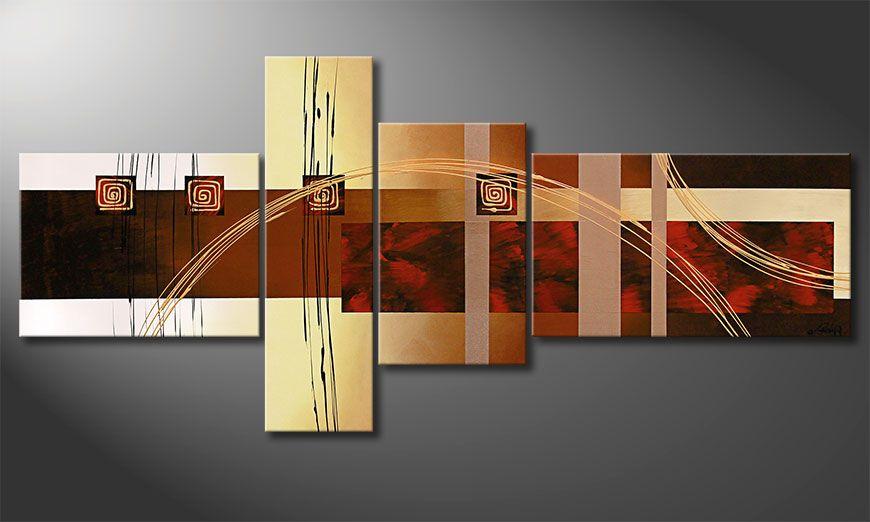 Notre peinture XXL Golden Ways 220x100x2cm