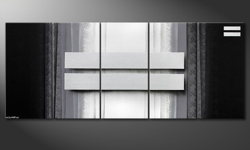 Tableau pour salon Silver Rain 200x80x2cm