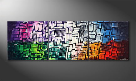 Art moderne 'Abstract Colors' 210x70cm
