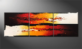Art moderne 'Battle Of Fire' 210x70cm